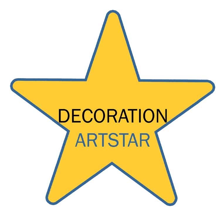 star logo yellow principles decoration